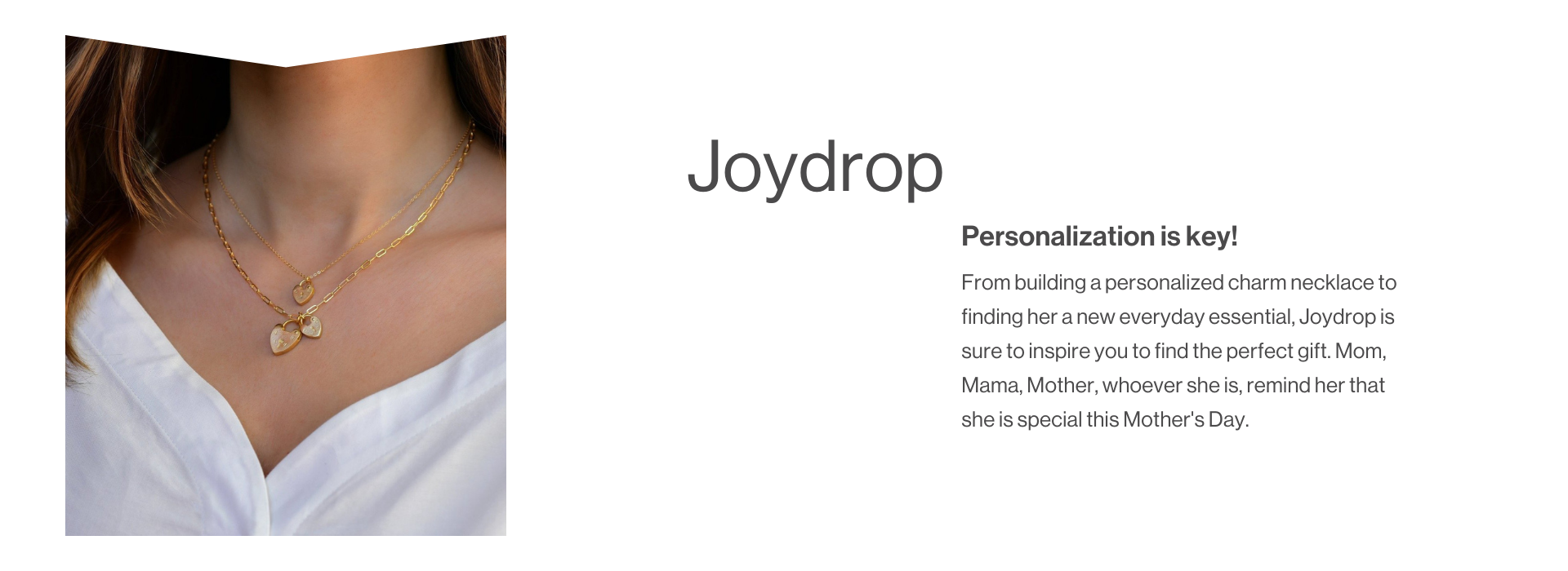 Gold necklace from JoyDrop