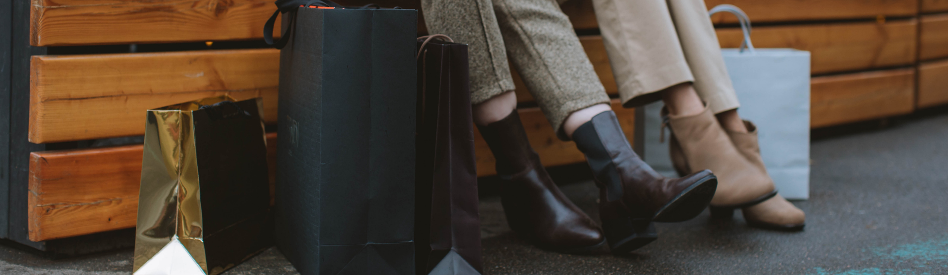 Photo of shopping bag and women's shoes