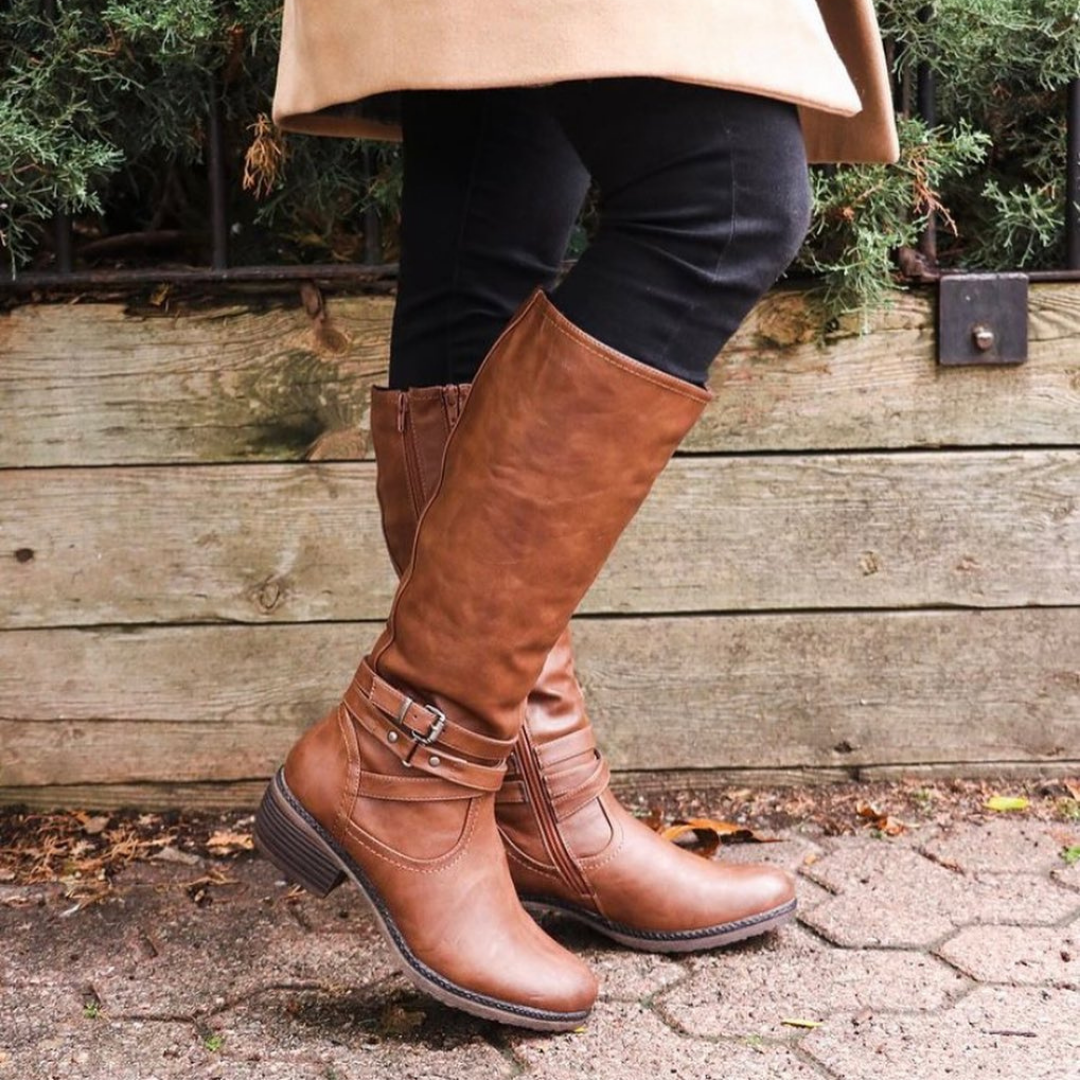 Brown leather boot from Sole to Soul